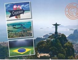 Carte Publicité ING - PP - Football Brésil - Belgique