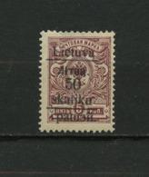 1919, South Lithuania-Grodno- MH* - Lituania
