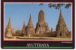 °°° 13431 - THAILAND - AYUTTHAYA - WAT CHAI WATTHANARAM - 1992 With Stamps °°° - Tailandia
