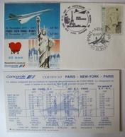 Concorde Air France, Sonder-Luftpost 1987 Paris - New York (54266) - Briefmarken