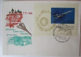 Concorde Air France, Block-FDC UDSSR 1975 (57250) - Briefmarken