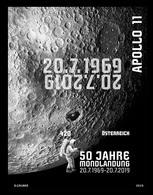 Austria 2019 Mih. 3475 (Bl.106) Space. Apollo 11. Moon Landing (black Proof) MNH ** - 1945-.... 2nd Republic