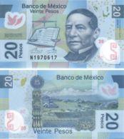 Mexico. Banknote. 20 Pesos. 2016. UNC. Polymer. Libra, Book, Mountain - Mexico