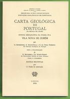 Vila Nova De Ourém - Carta Geológica De Portugal + Mapa. Leiria. - Geographical Maps