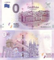 Banknote 0 EURO. 2018. UNC. Portugal. Lisbon. Eurovision. Variety 1 - EURO