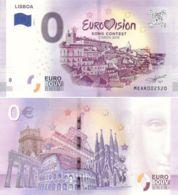 Banknote 0 EURO. 2018. UNC. Portugal. Lisbon. Eurovision. Variety 3 - EURO