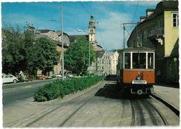 CP HALL IN TIROL - Unterer Stadtplatz - Strassenbahngarnitur Der Aufgelassenen Linie IV Innsbruck - Hall ( Tramway ) - Hall In Tirol