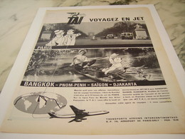 ANCIENNE PUBLICITE VOYAGEZ EN JET AERIENS TAI 1961 - Advertisements