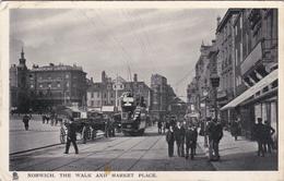 NORWICH, Norfolk, England, UK, PU-1908; The Walk And Market Place, TUCK # 5511 - Norwich