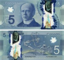 Canada. Banknote5 Dollars. 2016. UNC. P106new. Polymer. Space - Canada