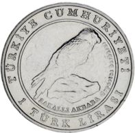 Turkey. 1 Lira2009. UNC. Eagle - Turkey