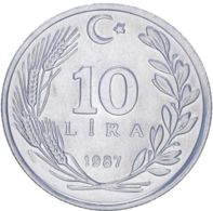 Turkey. 10 Lire1987. UNC - Turkey