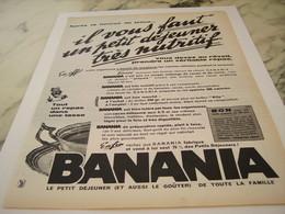 ANCIENNE PUBLICITE UN PETIT DEJEUNER BANANIA  1961 - Affiches