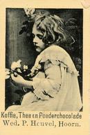 Early Advertisement Card, Koffie, Wed.P.Heuvel, Hoorn, Backside - Reclame