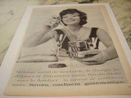 ANCIENNE PUBLICITE CONTIMENT GASTRONOMIQUE SAVORA 1961 - Affiches
