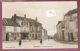 Cpa Chaumont Rue De La Maladiere épicerie Chaudront Vins Salomon - éditeur Julien Et Morel - Chaumont