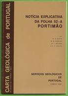 Portimão - Carta Geológica De Portugal + Mapa. Faro. - Geographical Maps