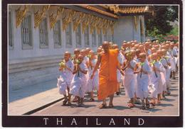 °°° 13437 - THAILAND - BANGKOK - A PROCESSION OF NOVICES THAI BUDDHIST °°° - Tailandia