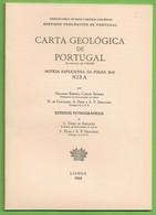 Nisa - Carta Geológica De Portugal + Mapa. Portalegre. - Geographical Maps