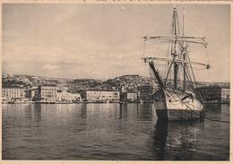 ISTRIA FIUME VEDUTA D'EPOCA VELIERO IN PORTO - Jugoslavia