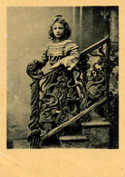 Early Advertisement Card, Girl On The Stairs, Koffie, Rookvleesch, Th. Horsman, Westerstraat, Backside - Reclame