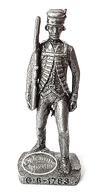 Figurine Métal KINDER : Soldat Anglais G.B - 1783 - Figurines En Métal
