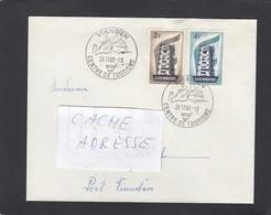 LETTRE  AVEC CACHET TOURISTIQUE DE VIANDEN  ET TIMBRES 2 & 4 FRANCS,EUROPE 1956. - Luxembourg