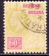 BRITISH GUIANA 1926 60c SG 280 Wmk Mult.Script.CA Used CV £60 - British Guiana (...-1966)