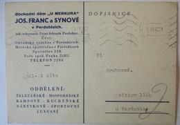 Tschechien, Portofreie Karte Juni 1945 Aus Pardubice (47994) - Czechoslovakia