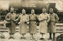 290719 - CARTE PHOTO MILITARIA - 01 CAMP DE MAILLY En 1939 - Chemin De Fer Service Des Vins Wagon - Regimente