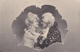 AP60 Romance - Couple Chatting - Tuck Art Series, 1905 Wellington Duplex Postmark - Couples
