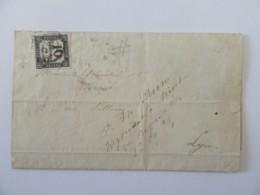Timbre Taxe 10c Non-dentelé YT N°2 Sur Lettre Datée 1859 - Belles Marges, Belle Qualité - 1859-1955 Covers & Documents