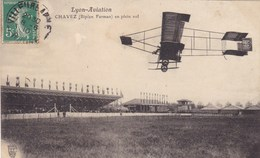 Lyon-Aviation - Chavez (Biplan Farman) En Plein Vol - Airmen, Fliers