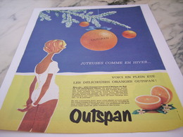 ANCIENNE PUBLICITE ORANGE JUSTEUSE  OUTSPAN 1961 - Affiches