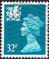 GB Wales 1971-93 32p Greenish Blue Machin, Fine Used - Wales