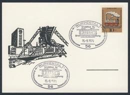 """Deutschland Germany 1974 Karte Card - Briefmarkenausstellung """"WUBRIA 74"""", Wuppertal / Stamp Exhibition - Treinen"""