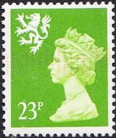 GB Wales 1971-93 23p Bright Green Machin, Fine Used - Wales