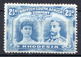 RHODESIE - (Compagnie Britannique) - 1910 - N° 24 - 2 1/2 P. Outremer - (Reine Mary Et George V) - Grande-Bretagne (ex-colonies & Protectorats)