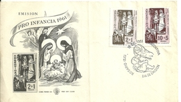 "4968 ""EMISION PRO INFANCIA 1961""  FDC ORIGINALE-15 DIC.1961 - FDC"