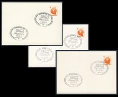 """Deutschland Germany 1974 Karte Card (3x) - Geschichtliche Briefmarkenschau """"Treno Italia 1974"""", Hamburg, Köln, Stuttgart - Treinen"""