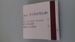POCHETTE D' ALLUMETTES  REST STANISLAS - BLANCHE TAMPONNEE - Boites D'allumettes