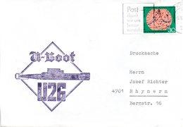 """(UB) BRD Umschlag Mit Cachet-Zudruck""""Unterseeboot""""U26""""- Schiffsstempel"""" EF BRD MWSt 5.5.1975 EMDEN 1 - U-Boote"""