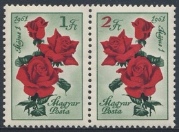 Hungary Ungarn 1961 Mi 1755 /6 A YT 1431 /2 SG 1734 /5 ** Rosa Hybr. : Edelrosen - Tag Der Arbeit / May Day - Feste