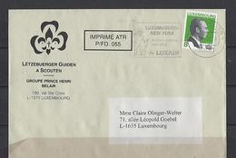 Luxembourg: Lettre Avec Flamme Luxembourg-New York Luxair - Machine Stamps (ATM)