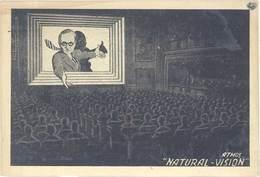 Cpa Pub Atmos «  Natural Vision «  ( Cinéma En Relief ) - Publicité