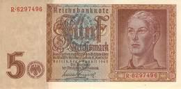 5 Reichsmark  UNC (I) 1942 - [ 4] 1933-1945: Derde Rijk