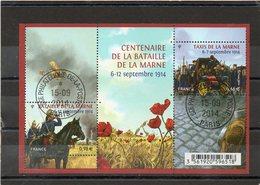 FRANCE   Feuillet 2 Timbres 0,66 € Et 0,98 €    2014   Y&T: F4899    Centenaire De La Bataille De La Marne    Oblitéré - Sheetlets