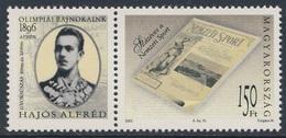 "Hungary Ungarn 2003 Mi 4768 SG 4657 ** Cent. Sport Magazine ""Nemzeti Sport"" - Titel Page / Titelseite 1. Sportzeitung - Unused Stamps"