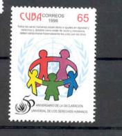 Cuba 1998 Universal Declaration Of Human Rights, 50th Anniversary. MNH. Scott 3969. Value $3.00 - Cuba