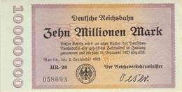 10 Mio Deutsche Reichsbahn UNC (I) - [ 3] 1918-1933: Weimarrepubliek